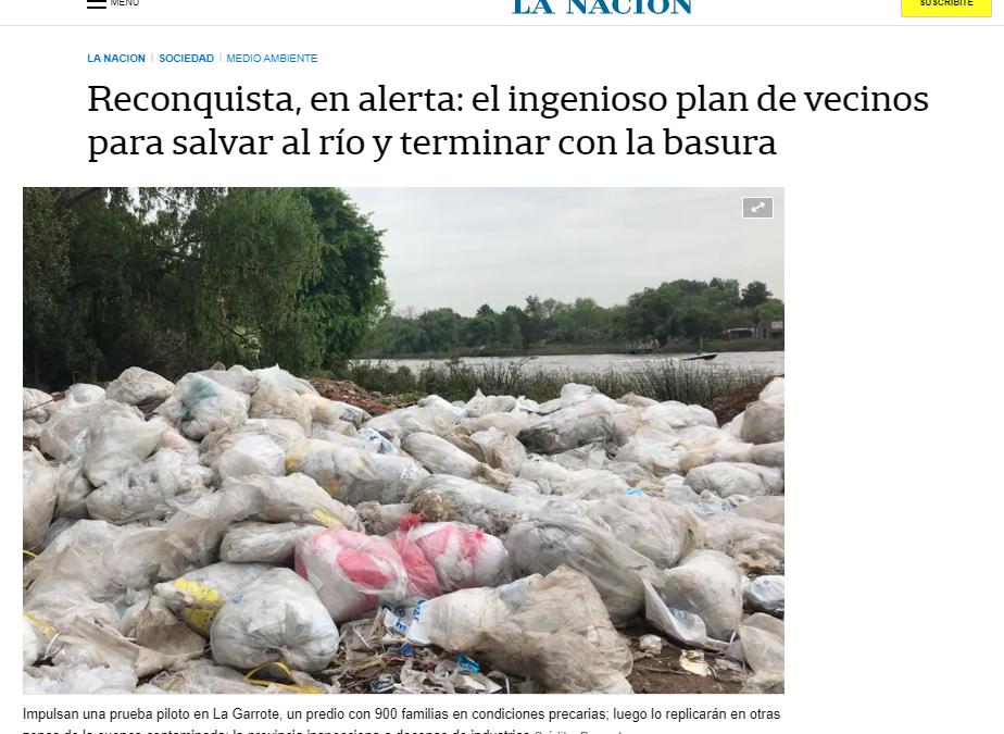 Reconquista, en alerta: el ingenioso plan de vecinos para salvar al río y terminar con la basura